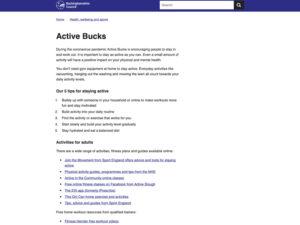 Active Bucks Home Page 1