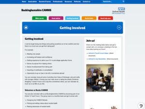 Bucks CAMHS Getting Involved Page
