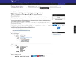 Education Safeguarding Advisory Service Home Page