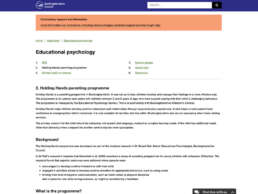 Educational Psychology Holding Hands Page