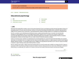 Educational Psychology Home Page
