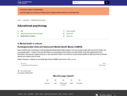 Educational Psychology Mental Health Page