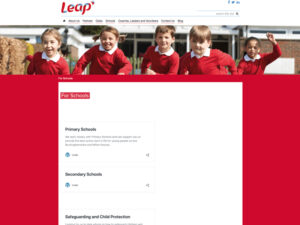 Leap For Schools Page