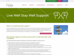 Live Well Stay Well Home Page