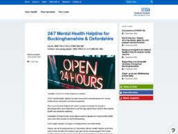 Mental Health Helpline Home Page