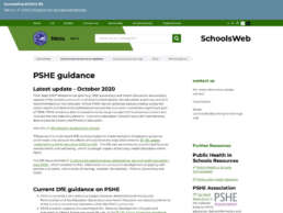 PSHE Schools Web Guidance Page