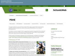 PSHE Schools Web Home Page