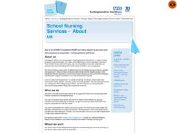 School Nursing Services About Page