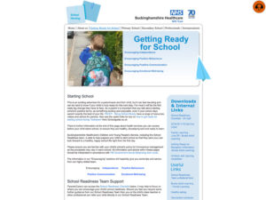School Nursing Services Ready for School Page