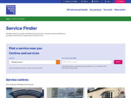 THT Service Finder Page