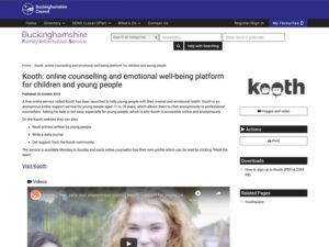 Kooth Bucks Home Page