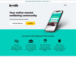 Kooth Home Page