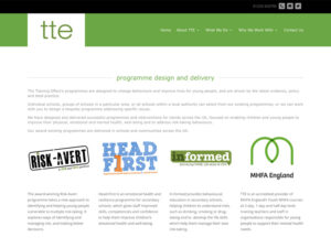 The Training Effect Programme Design Page