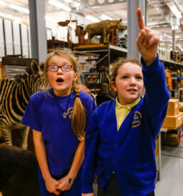Pupils in Leeds Discovery Centre