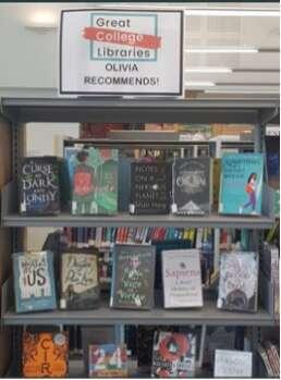 Books on a shelf in book shop