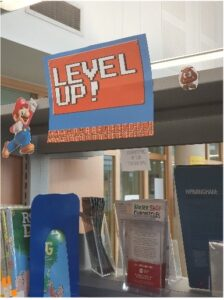 Level Up book shelf